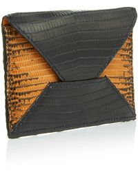 Metalskin - Black And Orange Envelope Clutch - Lyst