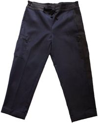 Inter-pret.us Colorblock Cargo Pant Made To Order blue - Lyst