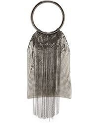 Whiting & Davis Cascade Fringe Double Ring Clutch - Lyst