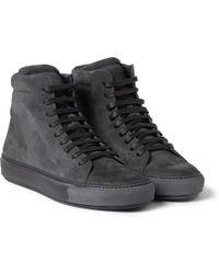 Acne Studios Adrian Suede High Top Sneakers - Lyst