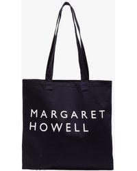 Margaret Howell - Logo Bag Cotton Drill In Navy - Lyst