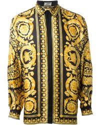 Gianni Versace Vintage Baroque Print Shirt - Lyst