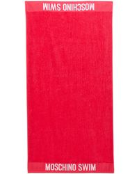 Moschino Hot Pink Logo Beach Towel - Lyst