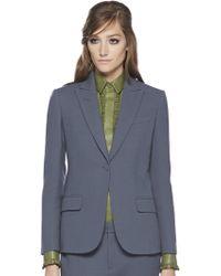 Gucci Stretch Wool Single Button Jacket - Lyst