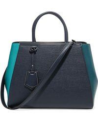 Fendi 2jours Tricolor Shopping Tote Bag - Lyst