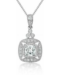 V Jewellery Simplicty Square Necklace - Lyst