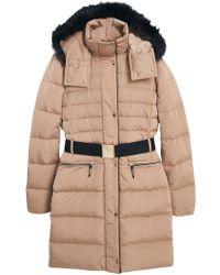 Mango - Detachable Hood Quilt Coat - Lyst