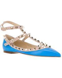 Valentino Rockstud Ballet Flat - Lyst