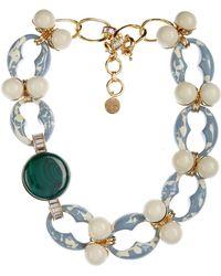 Valentina Brugnatelli Marilyn Swarovski & Malachite Necklace blue - Lyst