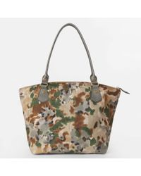 MZ Wallace - Forest Print Twill Chelsea Tote - Lyst