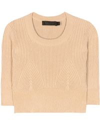 CALVIN KLEIN 205W39NYC - Cropped Sweater - Lyst