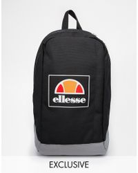 Ellesse - Box Logo Backpack Exclusive To Asos - Lyst