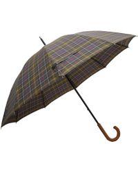 Barbour - Olive Tartan Golf Umbrella - Lyst