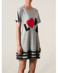 Love Moschino Love Jersey Dress - Lyst