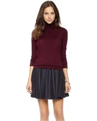 DKNY Turtleneck Pullover  Bordeaux - Lyst