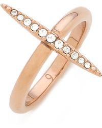 Michael Kors - Matchstick Ring Rose Goldclear - Lyst
