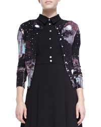 Marc By Marc Jacobs Stargazer Printed Knit Cardigan - Lyst