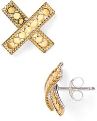 Anna Beck - X Stud Earrings - Lyst