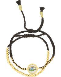 Iam By Ileana Makri - Set Of Two Goldplated Pyrite and Cord Bracelets - Lyst