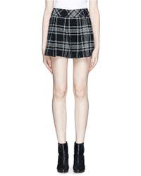 Alice + Olivia Plaid Pleat High Waist Shorts - Lyst