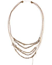 Arielle De Pinto - Gold and Silver Five_tiered Bare Chain Necklace - Lyst