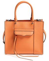 Rebecca Minkoff Women'S 'Mini Mab Tote' Crossbody Bag - Orange - Lyst