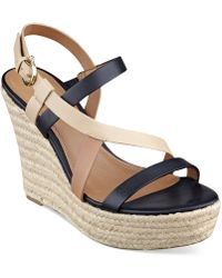 Tommy Hilfiger Abri Platform Wedge Sandals - Lyst