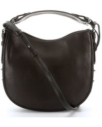 Givenchy Black Leather Obsedia Small Studded Hobo - Lyst
