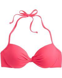 J.Crew Neon Gathered Halter Underwire Bikini Top - Lyst