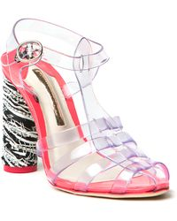 Sophia Webster Rosa Jelly Heeled Sandals - Lyst