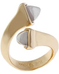 Rachel Zoe 14k Gold Facets Bypass Ring - Lyst
