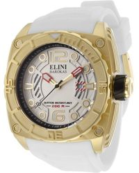 Elini Barokas - Commander White Silicone And Textured Dial Gold-tone Ss And Bezel - Lyst