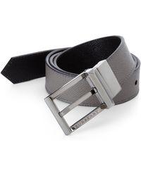 Burberry Webster Leather Belt - Lyst