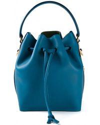 Sophie Hulme Teal Mini Bucket Bag - Lyst