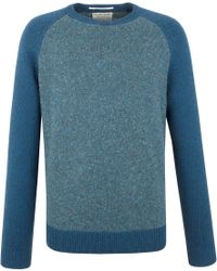 Racing Green - Lion Lambswool Blend Crew Neck Knit - Lyst