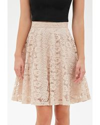Forever 21 Floral Lace A-Line Skirt - Lyst