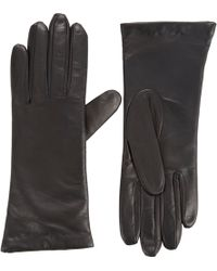 Barneys New York Sensortouch® Tech Leather Gloves black - Lyst