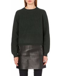 Acne Studios Misty Boiledwool Jumper Green - Lyst