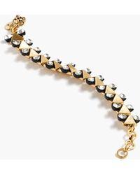 J.Crew Crystal Bow-Tie Bracelet gold - Lyst