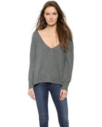 Anine Bing V Neck Sweater - Dark Grey - Lyst