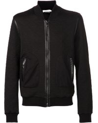 Versace Textured Bomber Sweater - Lyst