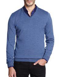 Hugo Boss Melba Wool V-Neck Sweater - Lyst