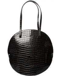 Junya Watanabe Rounded Textured Croc Shopper Black - Lyst