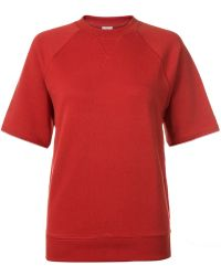 Sunspel - Women's Loopback Cotton Sweatshirt With Short Raglan Sleeve - Lyst