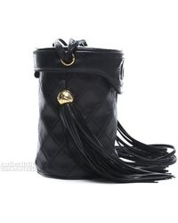 Chanel Pre-owned Lambskin Quilted Vintage Bucket Bag - Lyst