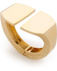 Giles & Brother - Jumbo Stirrup Hinge Cuff Bracelet - Gold - Lyst
