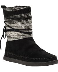 TOMS Nepal Boot Black Suede - Lyst