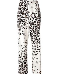 Sea Printed Wide Leg Trousers - Lyst