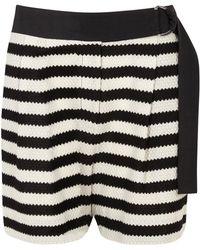 Thakoon - Monochrome Striped Cotton Shorts - Lyst