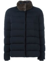 Moncler Gamme Rouge - Fur Collar Padded Jacket - Lyst